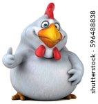 fun chicken   3d illustration   Shutterstock . vector #596488838