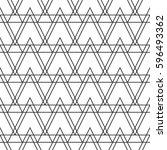 geometric seamless vector line... | Shutterstock .eps vector #596493362