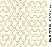 seamless geometric vector... | Shutterstock .eps vector #596493482