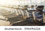 modern gym interior with... | Shutterstock . vector #596496326