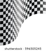 checkered flag wave on white... | Shutterstock .eps vector #596505245