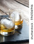 old fashioned cocktails | Shutterstock . vector #596506946