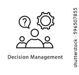 decision management vector line ... | Shutterstock .eps vector #596507855