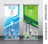 roll up brochure flyer banner... | Shutterstock .eps vector #596512442