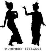 silhouette vector of thailand... | Shutterstock .eps vector #596513036
