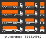 trucks with dangerous cargo.... | Shutterstock .eps vector #596514962