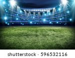 football pitch and green grass  | Shutterstock . vector #596532116