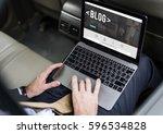 web design blog global website | Shutterstock . vector #596534828