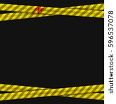 police yellow stripes keep out... | Shutterstock .eps vector #596537078