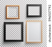 realistic photo frame vector.... | Shutterstock .eps vector #596537792