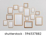 wooden frame vector. set square ... | Shutterstock .eps vector #596537882