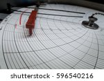 a pressure test graph  the... | Shutterstock . vector #596540216
