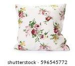 pillows on white background | Shutterstock . vector #596545772