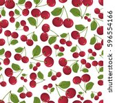 seamless pattern of cherry | Shutterstock .eps vector #596554166