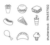 figure fast food background icon | Shutterstock .eps vector #596557502