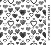 seamless raster pattern with... | Shutterstock . vector #596563655