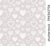 seamless raster pattern with... | Shutterstock . vector #596563706