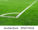 corner green grass field for...   Shutterstock . vector #596573426