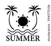 graphic summer  vector   Shutterstock .eps vector #596575106