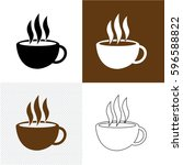 coffee icon | Shutterstock .eps vector #596588822