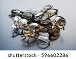 old eyeglasses | Shutterstock . vector #596602286