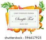 vegetable  business card | Shutterstock .eps vector #596617925