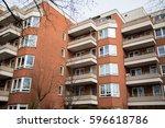 multi family house  tenement... | Shutterstock . vector #596618786