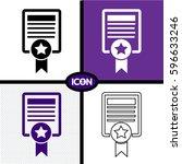 certificate icon   Shutterstock .eps vector #596633246