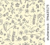 seamless raster pattern ... | Shutterstock . vector #596635175