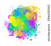 watercolor coloring background...   Shutterstock .eps vector #596639342