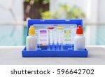 water testing test kit for...   Shutterstock . vector #596642702