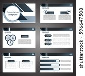black presentation template... | Shutterstock .eps vector #596647508