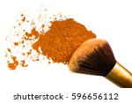 makeup brush with contour...   Shutterstock . vector #596656112