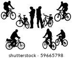 vector drawing bicycle races... | Shutterstock .eps vector #59665798