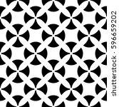 raster monochrome seamless... | Shutterstock . vector #596659202