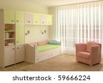 interior of playroom. 3d render. | Shutterstock . vector #59666224