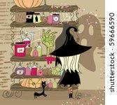 spooky shelf   Shutterstock .eps vector #59666590