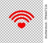 heart wifi icon  wi fi symbol...
