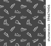 men shoes background seamless... | Shutterstock .eps vector #596674406