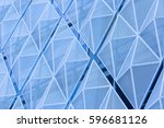 the wall of a modern building.... | Shutterstock . vector #596681126