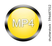 mp4 button isolated. 3d... | Shutterstock . vector #596687312
