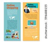 online shopping vertical flyers ...   Shutterstock .eps vector #596688155