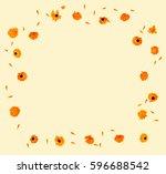 flowers and petal calendula ...   Shutterstock . vector #596688542