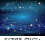 magic space. fairy dust.... | Shutterstock .eps vector #596689442