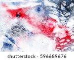 abstract hand made watercolor... | Shutterstock . vector #596689676
