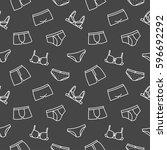 underwear bra background... | Shutterstock .eps vector #596692292