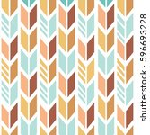 vector seamless colorful ethnic ...   Shutterstock .eps vector #596693228
