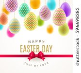 easter vector illustration with ... | Shutterstock .eps vector #596698382