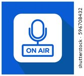 on air vector icon  podcast... | Shutterstock .eps vector #596708432