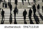 Silhouette People Walk On...